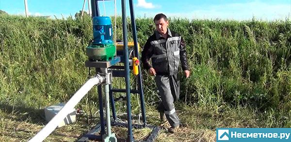 Бурение скважин Как работает установка для бурения