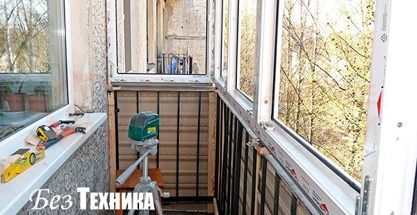 Балкон своими руками установка 62
