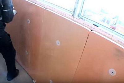 монтаж термоизоляции стен и потолка балкона
