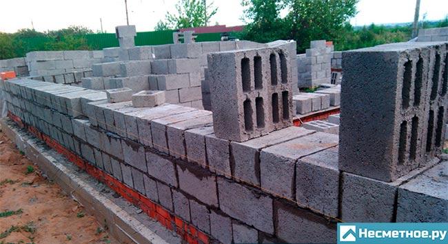Кладка стены из керамзитобетона блока купить краситель для бетона в смоленске